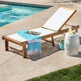 Safavieh Outdoor Living Manteca Brown Acacia Wood Lounge Chair