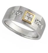 Effy Jewelry Gento Men's 14K White Gold Diamond Ring, .38 TCW