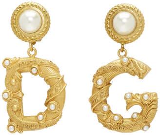 Dolce & Gabbana Gold Pearl Earrings