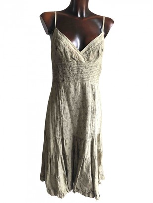 120% Lino Khaki Linen Dress for Women
