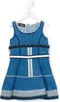 DSQUARED2 sleeveless denim dress - kids - Cotton/Spandex/Elastane - 6 yrs