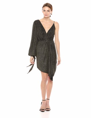 C/Meo Women's Alight Sparkle Kint One Sleeve Cocktail Party Dress