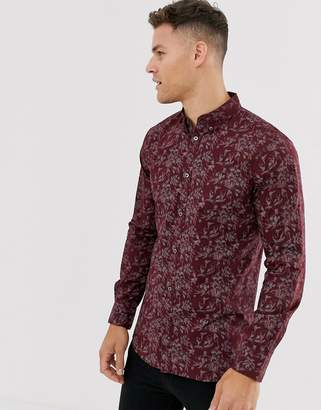 French Connection floral print shirt-Red