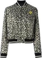 Just Cavalli animal print bomber jacket