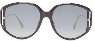 Christian Dior Diordirection Oversized Round Acetate Sunglasses - Womens - Black