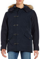 Black Brown 1826 Trimmed Hooded Parka