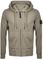 Stone Island Full Zip Hooded Jumper Green