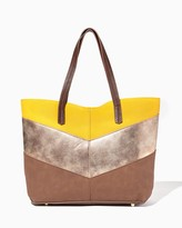 Charming charlie Picadilly Chevron Tote