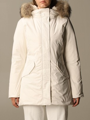 Woolrich Parka With Hood And Fur Edges