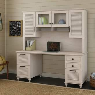 Kathy Ireland Home by Bush Furniture Volcano Dusk Desk Hutch Home by Bush Furniture Size: 68' W, Finish: Driftwood Dreams