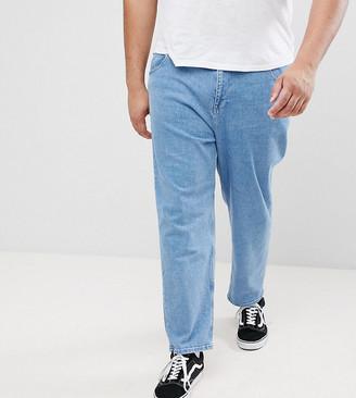 Asos PLUS Skater Jeans In Mid Wash Blue