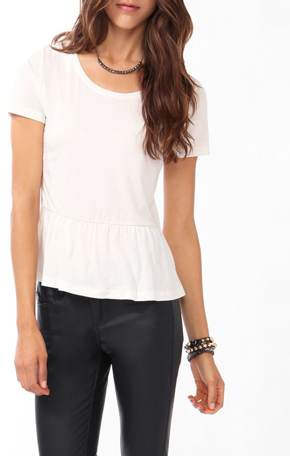 Forever 21 Knit Peplum Top