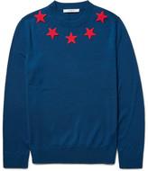 Givenchy Star-Appliquéd Wool Sweater