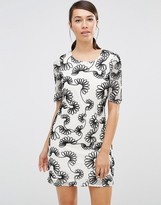 Lavand Floral Printed Shift Dress