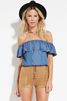 Forever 21 Lace-Up Faux Suede Shorts