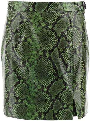 ATTICO Printed High-Waisted Mini Skirt