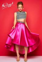 Mac Duggal Evening Gowns - 30312 High Neck Dress In Hot Pink Multi