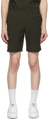 Norse Projects Green Seersucker Aros Shorts