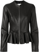 HUGO BOSS peplum hem jacket - women - Leather/Polyester - 36