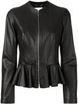 HUGO BOSS peplum hem jacket - women - Leather/Polyester - 40