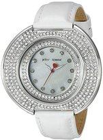 Betsey Johnson Women's BJ00486-01 Analog Display Quartz White Watch