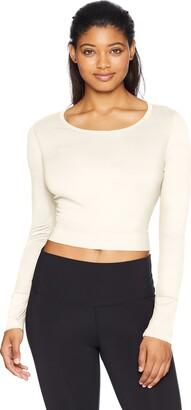 Danskin Women's Long Sleeve Crop Top with Cutout