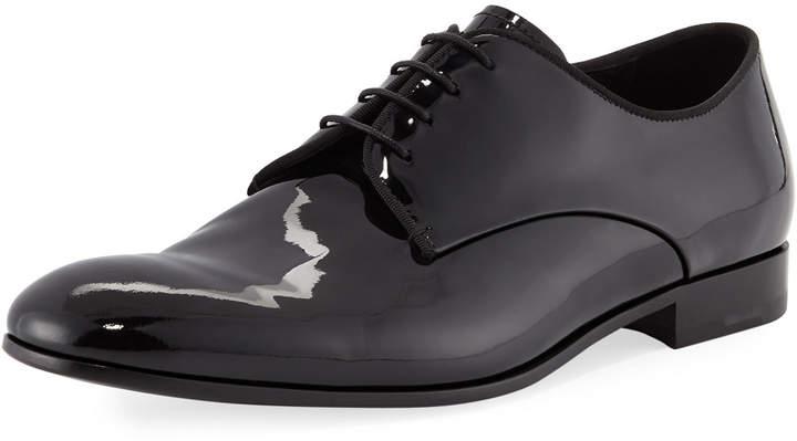 Giorgio Armani Patent Leather Lace-Up Loafer
