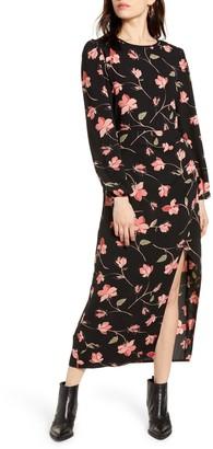 MinkPink Magnetic Love Long Sleeve Midi Dress