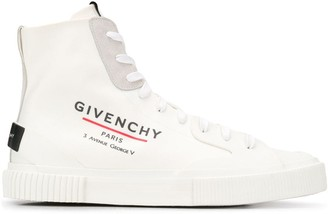 Givenchy Logo Print High-Top Sneakers