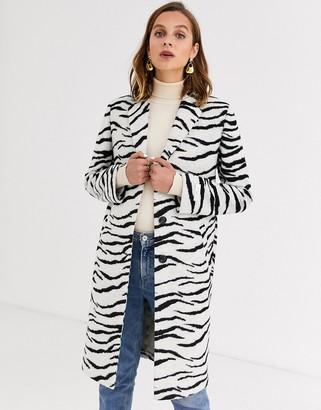 Gianni Feraud zebra felt tailored coat-Multi