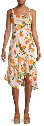 Parker Millie Citrus-Print Linen Dress