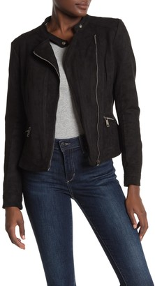 Lola Made In Italy Faux Suede Moto Jacket