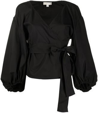 MICHAEL Michael Kors V-neck wrap front blouse