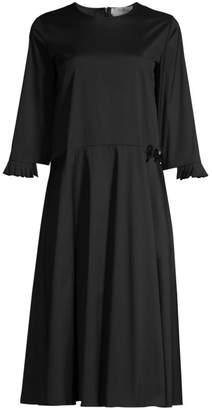 Max Mara Embellished Poplin Midi Dress