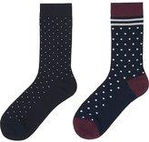 Uniqlo Women Heattech Socks 2p (Dot)