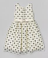 Jayne Copeland Ivory Floral Babydoll Dress - Toddler & Girls