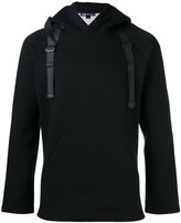 Y-3 buckled straps hoody - men - Cotton/Polyester - S