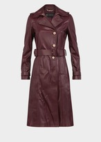 Versace Nappa Leather Trench