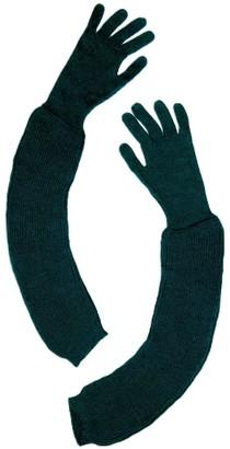 Graciela Huam Historia Alpaca Long Gloves - Green