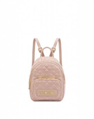 Love Moschino Small Quilted Backpack With Logo Woman Pink Size U It - (one Size Us)