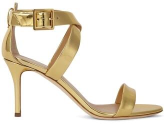 Giuseppe Zanotti Metallic Cross-Strap High-Heel Sandals