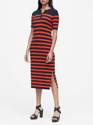 Banana Republic Stripe Henley Knit Dress