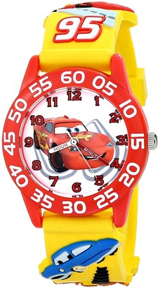 """Disney Kids' W001509 """"Time Teacher"""" 3D Cars Watch with Yellow Plastic Band"""