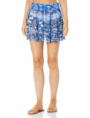 Ramy Brook Women's Tia Mini Sequin Detail Coverup Skirt