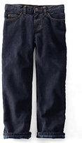 Classic Boys Slim Iron Knee Lined Fit Jeans-Graphite Blue Plaid