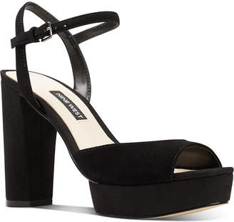 Nine West Gail Platform Dress Sandals Women Shoes