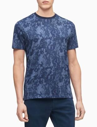 Calvin Klein Liquid Touch Camo Floral Crewneck T-Shirt