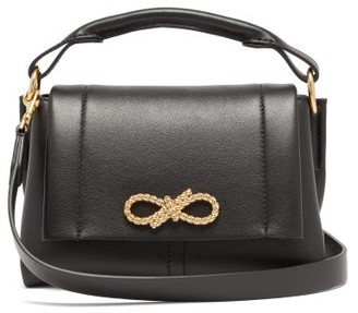 Anya Hindmarch Rope Bow Mini Leather Handbag - Black