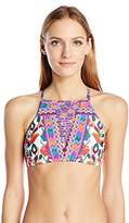 Nanette Lepore Women's Antigua Stargazer Strappy High Neck Bikini Top