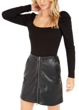 Bar III Becca Tilley x Puff-Sleeve Bodysuit, Created for Macy's